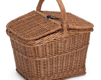Empty Wicker Picnic Basket
