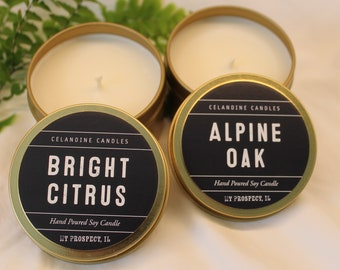 Set of two 6 oz Soy Candle (choose two scents)