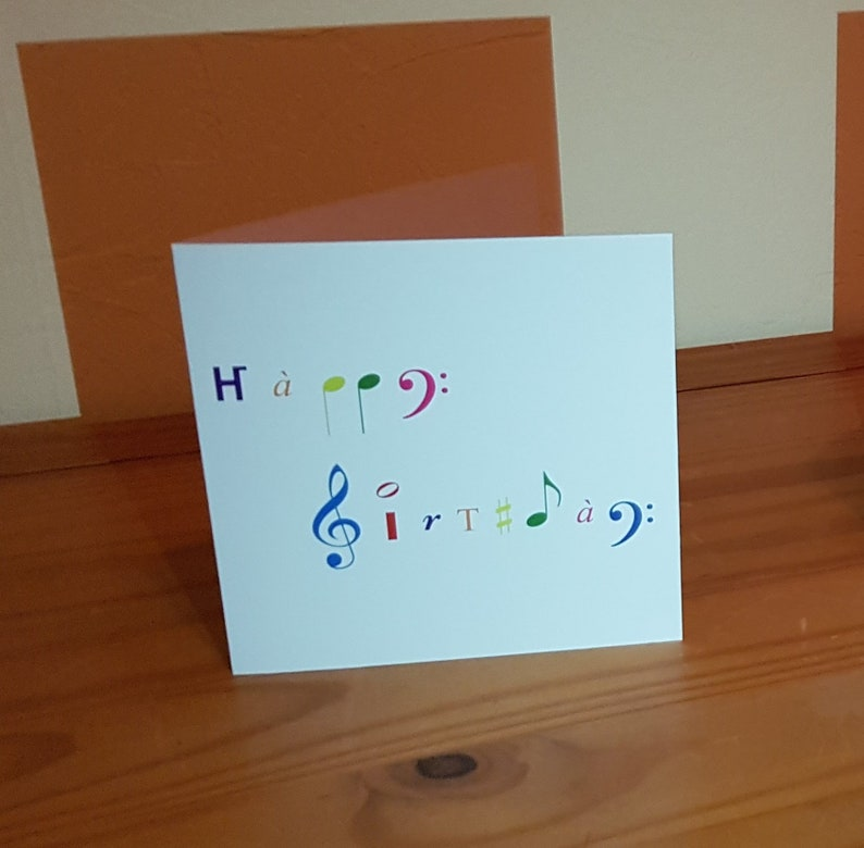 Music Symbols Happy Birthday Greeting Card