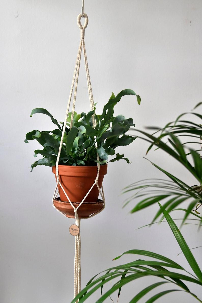 image 0 ... & Minimalistic macrame plant hanger / natural cotton / hanging | Etsy