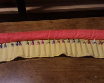 24 ct Crayon roll, button closure