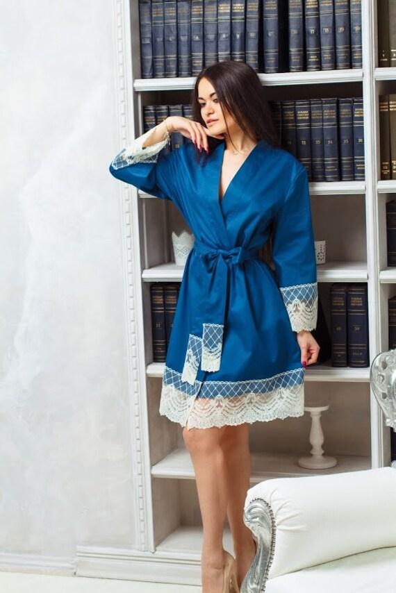 Cotton Robe Womens Homewear Dressing Gown Bio Lingerie | Etsy