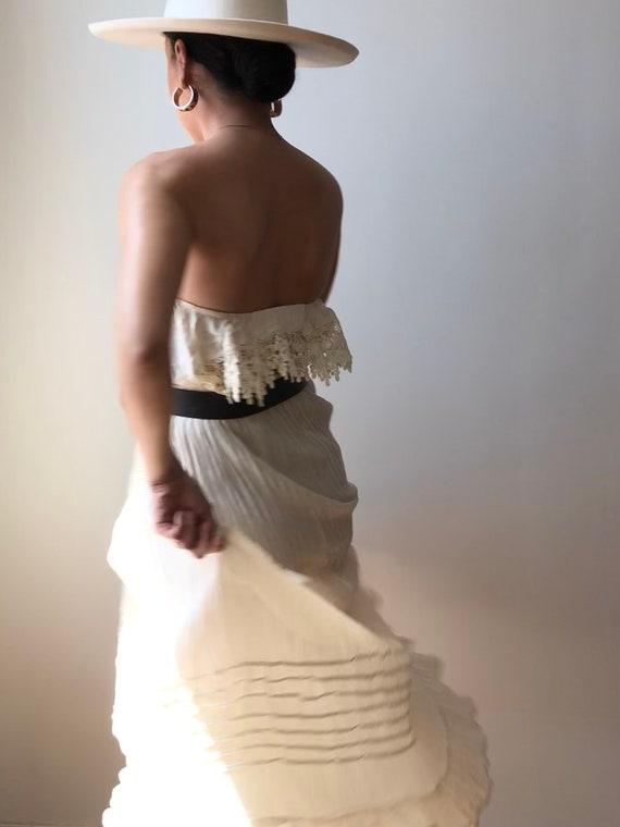 Vintage Oaxaca Cotton Ruffle Tiered Skirt - image 6