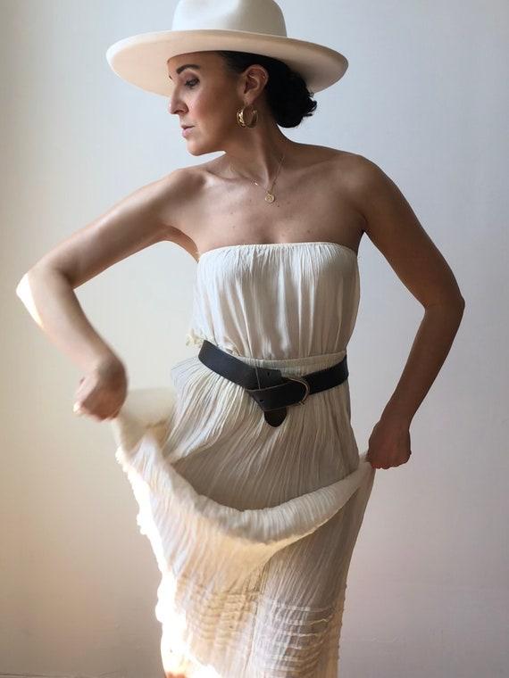 Vintage Oaxaca Cotton Ruffle Tiered Skirt
