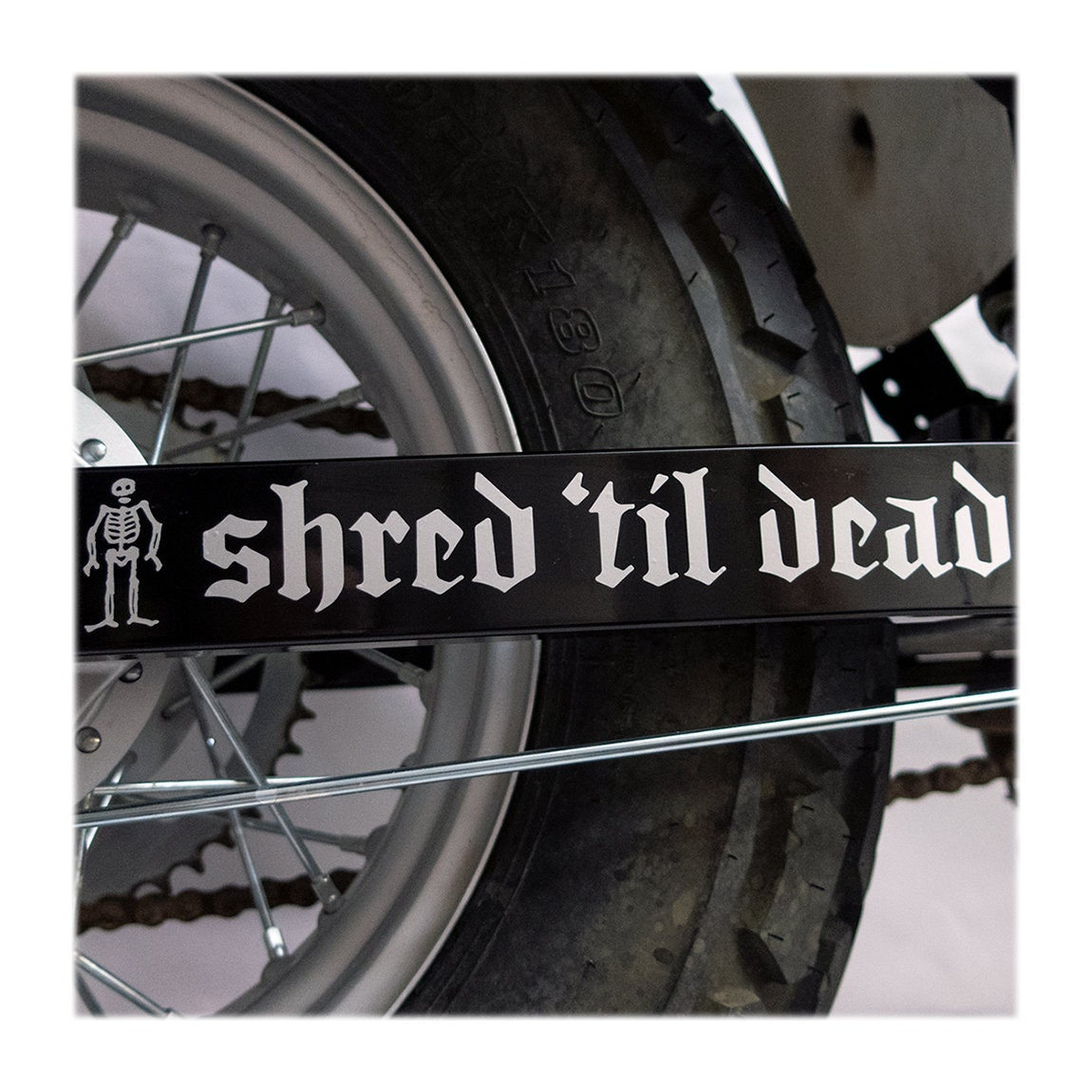 938981969db DECAL Choose Color & Size - Shred 'Til Dead Vinyl Window Decal - Ships free  within the United States