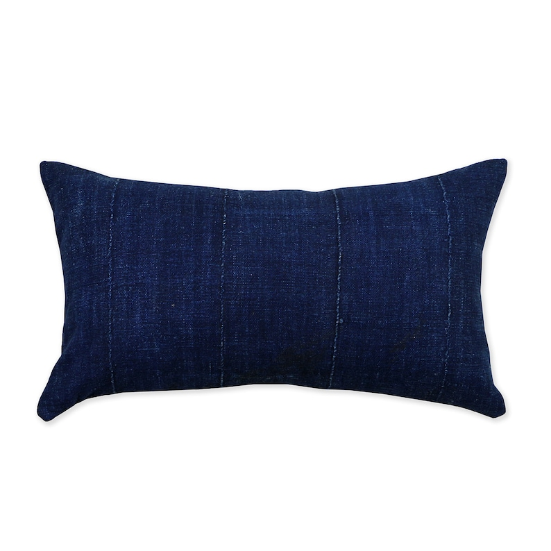 African Indigo Pillow Cover Dark Blue