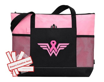 Pink Ribbon Breast Cancer Awareness Gift Weekender Bag Luggage Travel Beach Bag Pink Ribbon Gifts for Breast Cancer Warriors