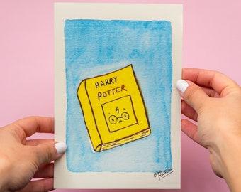 Potter Book Print