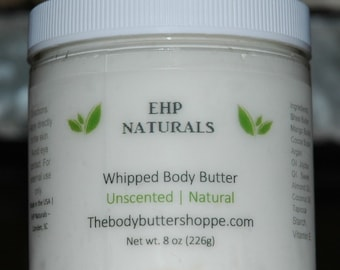 Whipped body butter - Unscented  - 8 oz