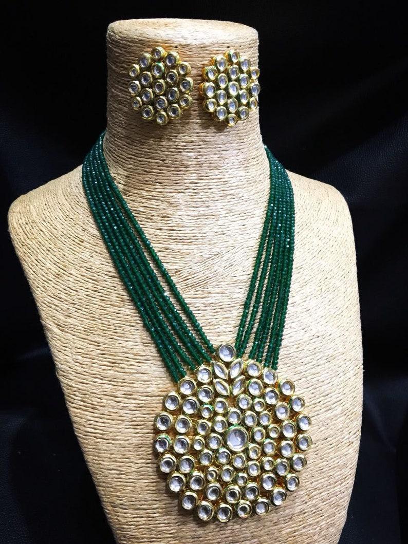 Jewelry & Watches Engagement & Wedding 2019 New Style Traditional Ethnic Bollywood Kundan Polki Dangle Earrings Set Designer Jewellery