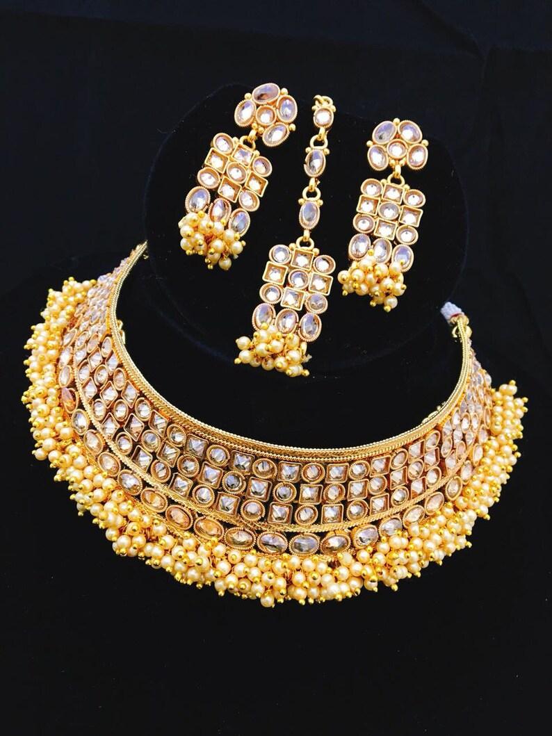 7584a13abe INDIAN KUNDAN JEWELRY Wedding Wear Kundan Necklace with | Etsy