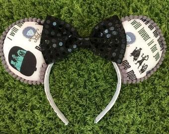 Haunted Mansion Mickey Ears (Gray)