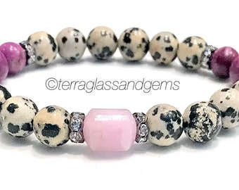 Sold by 32 Double Strands ~ 225 Beads - 2-4mm x 8-10mm Natural Spotted Dalmatian Jasper ChipNugget Shaped Beads with 1mm Holes