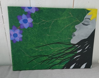 "Acrylic painting ""earth veins"" on canvas 30x40"