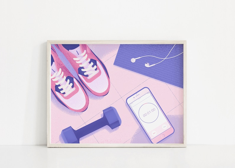 Morning Routine Print  Instant Download  Workout Print  image 0