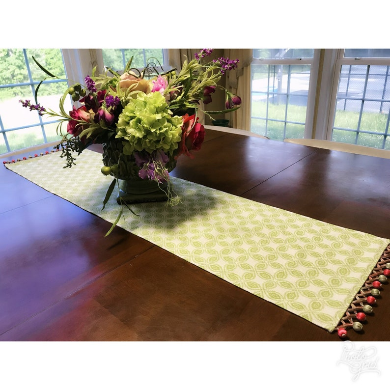 Lime Green Table Runner, Mix And Match Table Linens, Chose Your Table  Runner And Linens, Geometric Table Linens, Casual And Formal Ta