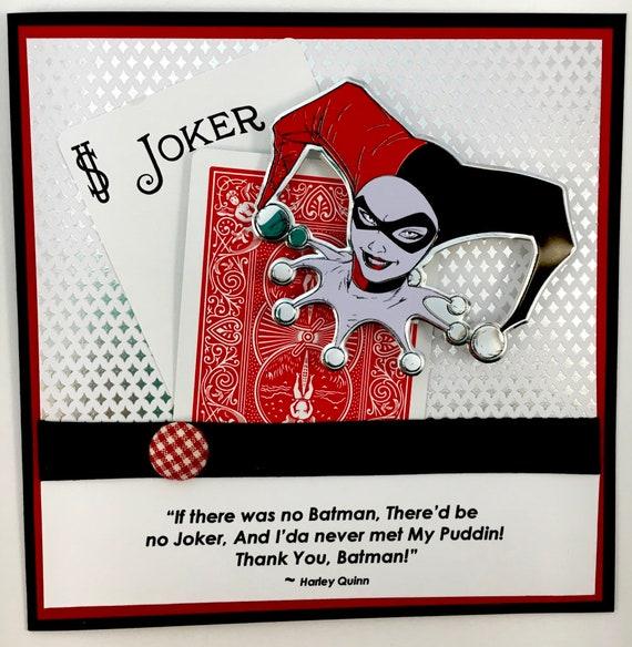 Harley Quinn Batman Joker Birthday Card Anniversary Card Etsy