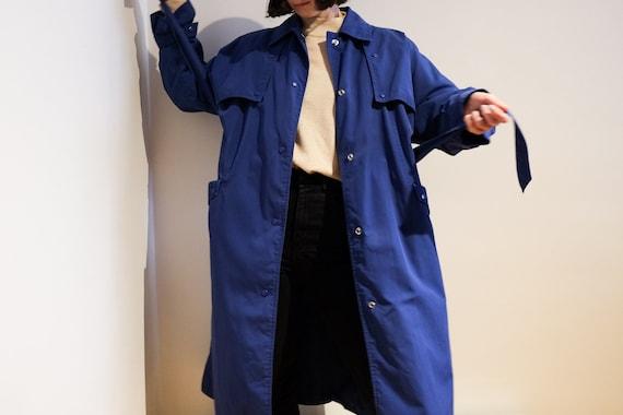 Trench bleu vif - Bright Blue Trench Coat