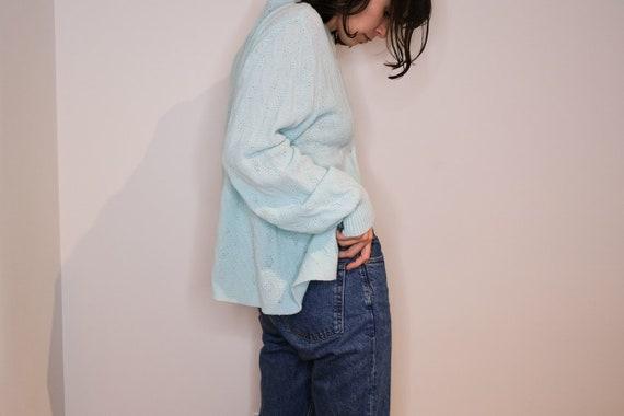 Italian Made Baby Blue Light Knit Cardigan
