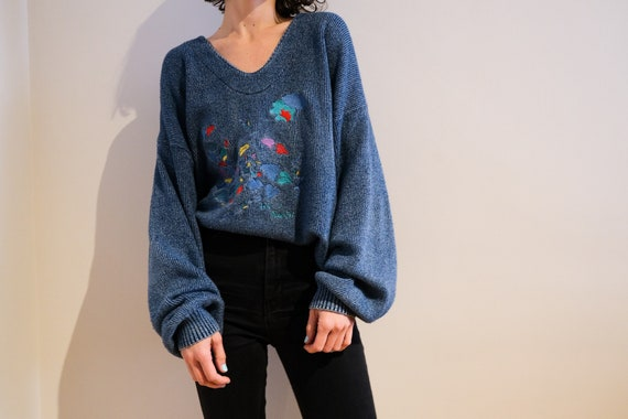 Blue Willi's Embroidered Knit Sweater