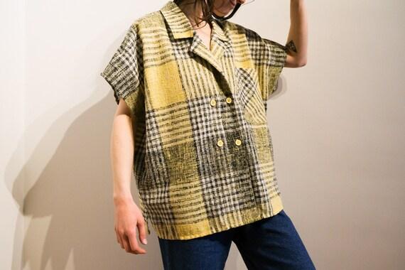 Full-bodied pastel shirt - Pastel Plaid Loose Fit
