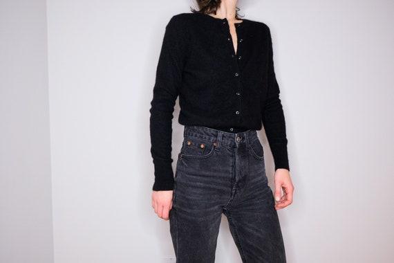 90's Black Basic Cashmere Cardigan