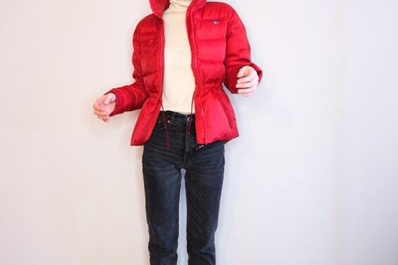 90's Tommy Girl Red Puffer Jacket