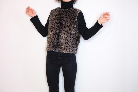 Handmade Fake Fur Leopard Top