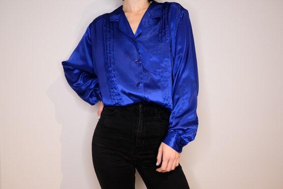 Royal Blue Silky Eaton's Shirt - Eaton Silky Royal