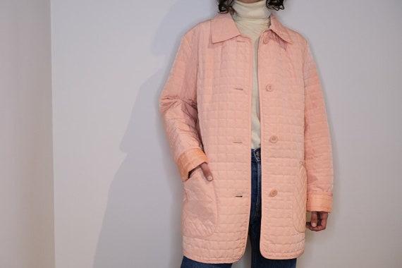 Light Pink Quilt Buttoned Jacket