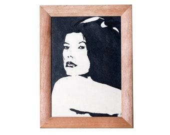Original  Grafics Art Romantic Woman Portrait Odessa Art READY TO SHIP