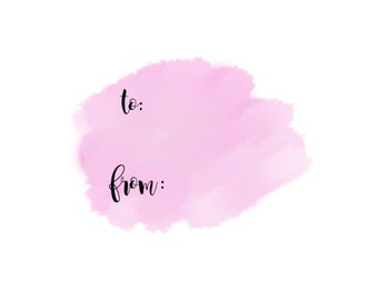 """To From 2"""" Gift Tag - Pink"""
