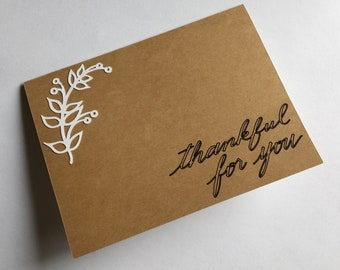Thankful for you handmade thank you card