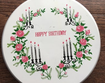 Vintage Musical Cake Stand Happy Birthday Spins