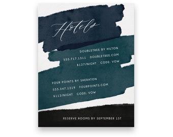 Navy Enclosure Card/Wedding Invitation Suite/Wedding Invites/Invitation Suites/Bold/Modern/Watercolor/Luxury