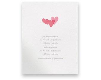 Pink Enclosure Card/Wedding Invitation Suite/Wedding Invites/Invitation Suites/Hearts/Love/Blush/Blush Pink Wedding/Modern/Pink Invites