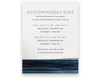 Navy Enclosure Card/Wedding Invitation Suite/Wedding Invites/Invitation Suites/Dark/Romantic/Blue/Evening/Elegant/Luxury/Beach