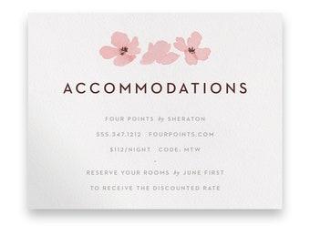 Blossom Enclosure Card/Wedding Invitation Suite/Wedding Invites/Invitation Suites/Pink/Flowers/Floral/Greenery/Cherry Blossom/Sakura