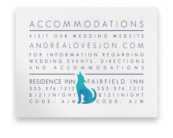 Western Enclosure Card/Wedding Invitation Suite/Wedding Invites/Invitation Suites/Western/Blue/Navy/Modern/Texas/Country/Watercolor