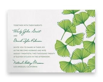 Garden Wedding Invitation/Greenery Wedding Invitation Suite/Wedding Invites/Invitation Suites/Green/Script/Floral/Greenery/Summer/Spring