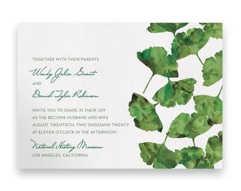 Garden Wedding Invitation/Wedding Invitation Suite/Wedding Invites/Invitation Suites/Green/Watercolor/Script/Floral/Greenery/Summer/Spring