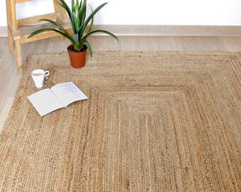tapis de jute naturelle tapis naturel tapis tiss la main de jute tapis de jute de taille personnalise tapis de teintures vgtales eco rug - Tapis En Jute