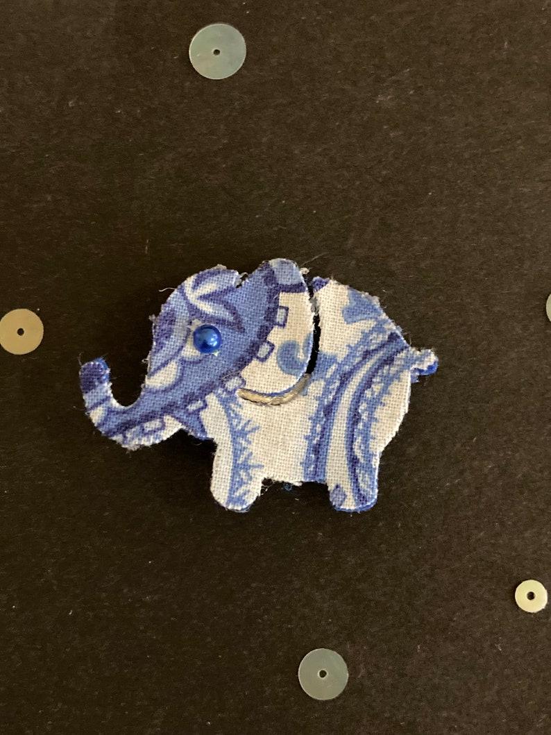 Elephant hair accessories Blue elephant Red elephant Floral Elephant Hair Clip