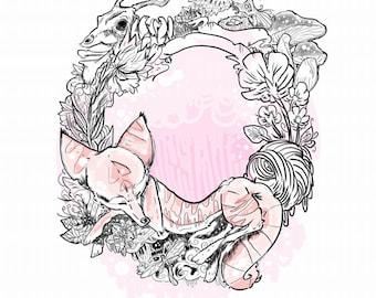 Fairytale Fox Interior Decor Poster A4