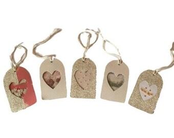 Gift tags // shaker tags // handmade