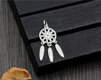925 Silver tassel charms