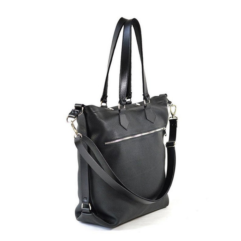 Cube Leather Tote Bag image 0