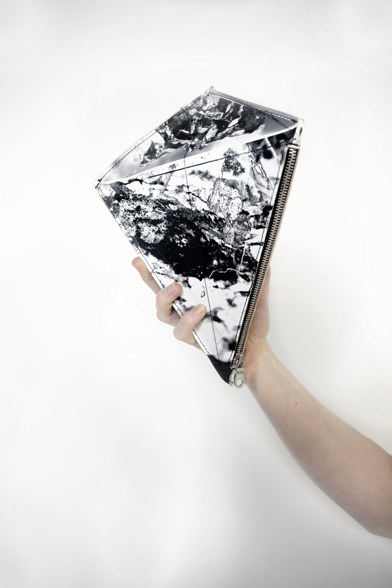 Three Dimensional Leather Kite Clutch image 0