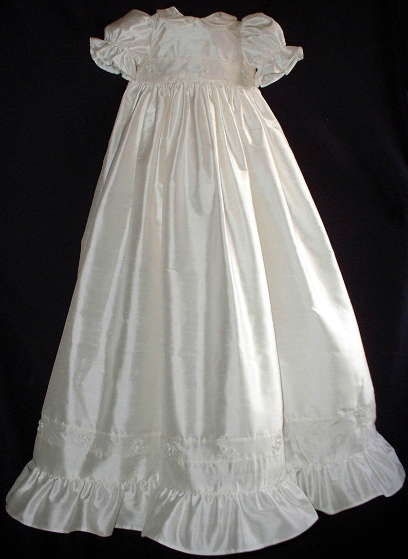 7e3177a6bbc Unique Baby Girl Ivory Christening/ Baptism Gown. Hand made   Etsy