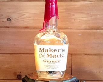 Maker's Mark Liquor Bottle Bar Light